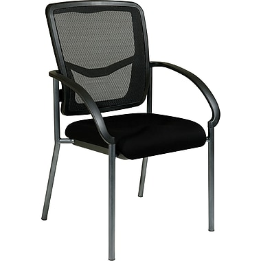 Office Star Proline II® ProGrid® Back Fabric Guest Chair, Black