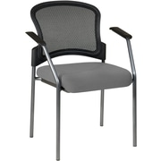 Office Star Proline II® Fabric Titanium Finish Guest Chair with ProGrid® Mesh Back, Gray