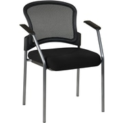 Office Star Proline II ProGrid Metal Visitors Chair, Black (86710-231)