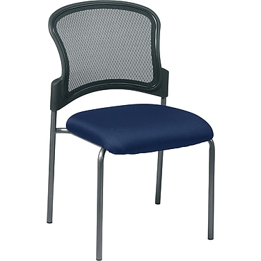 Office Star Proline II® ProGrid® Back Fabric Guest Chair with Straight Leg, Navy