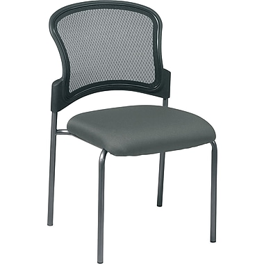 Office Star Proline II® ProGrid® Back Fabric Guest Chair with Straight Leg, Gray
