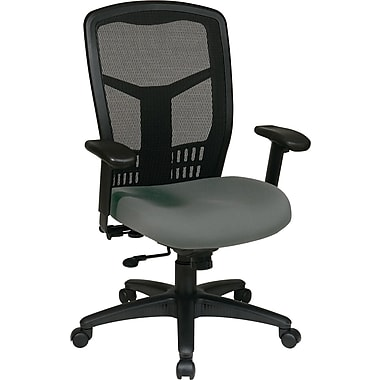 Office Star 90662-226 Pro-Line II Fabric High-Back Managers Chair with Adjustable Arms, Gray