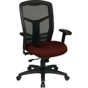 Office Star 90662-227 Pro-Line II Fabric High-Back Managers Chair with Adjustable Arms, Burgundy
