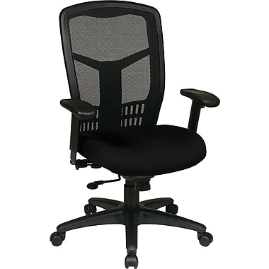Office Star Proline II® ProGrid® Back Fabric Guest Chair with Arms and Titanium Finish, Burgundy