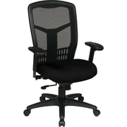 Office Star 90662-231 Pro-Line II Fabric High-Back Managers Chair with Adjustable Arms, Black