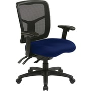 Office Star 92343-225 Pro-Line II Fabric Managers Chair with Adjustable Arms, Navy
