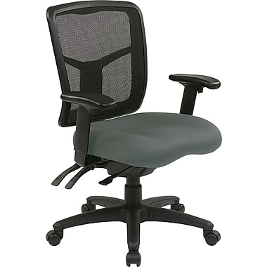 Office Star 92343-226 Pro-Line II Fabric Managers Chair with Adjustable Arms, Gray