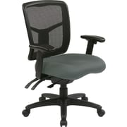 Office Star Proline II® Fabric ProGrid® Back Manager Chair with Dual Function Control, Gray