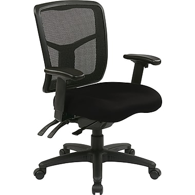 Office Star Proline II® Fabric ProGrid® Back Manager Chair with Dual Function Control, Black