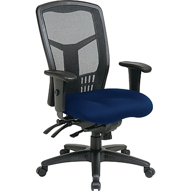 Office Star Proline II®ProGrid®High back Managers Chair with Multi-Function Control,Navy Fabric Seat