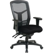 Office Star Pro-Line II High-Back Mesh Manager's Chair, Adjustable Arms, Black