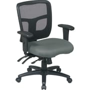Office Star 92893-226 Pro-Line II Fabric Mid-Back Managers Chair with Adjustable Arms, Gray