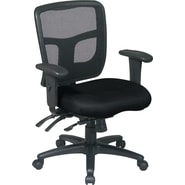 Office Star Proline II® Fabric ProGrid® Back Managers Chair with Multi-function Control, Black Seat