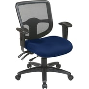 Office Star Proline II® ProGrid® Ergonomic Task Chair with Ratchet Back, Navy