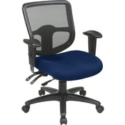 Office Star Proline II Fabric Computer and Desk Office Chair, Adjustable Arms, Navy (98344-225)