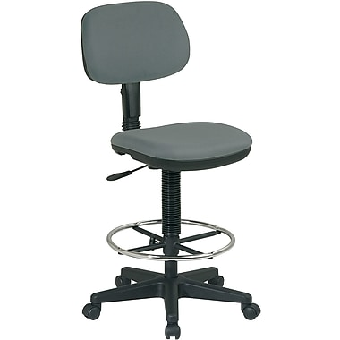Office Star WorkSmart™ Fabric Sculptured Seat and Back Drafting Chair, Gray