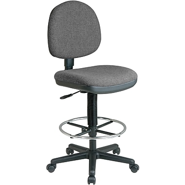 Office Star WorkSmart™ Fabric Lumbar Support Drafting Chair, Gray