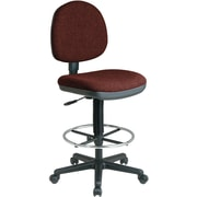Office Star WorkSmart™ Fabric Lumbar Support Drafting Chair, Burgundy