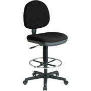 Office Star WorkSmart™ Fabric Lumbar Support Drafting Chair, Black