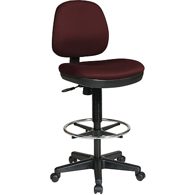Office Star WorkSmart™ Fabric Contemporary Drafting Chair with Flex Back, Burgundy