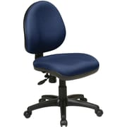Office Star WorkSmart™ Polyester Contemporary Task Chair with Flex Back, Navy