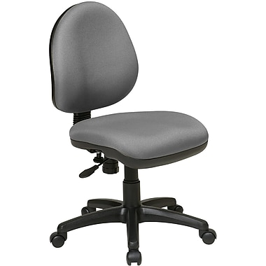 Office Star WorkSmart™ Polyester Contemporary Task Chair with Flex Back, Gray