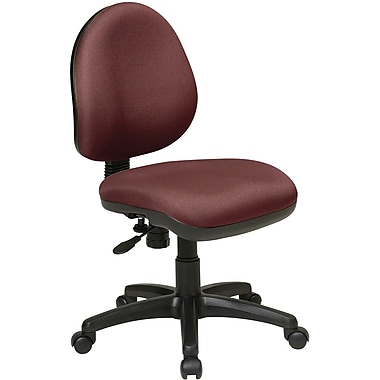 Office Star WorkSmart™ Polyester Contemporary Task Chair with Flex Back, Burgundy