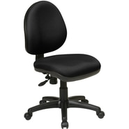 Office Star WorkSmart™ Polyester Contemporary Task Chair with Flex Back, Black