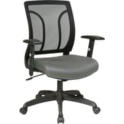 Office Star EM50727-226 Work Smart Mesh Task Chair with Adjustable Arms, Gray