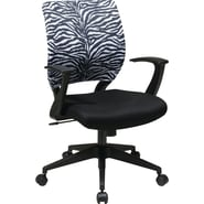 Office Star Screen Back Task Chair with in.Tin. Arm, Zebra