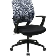 Office Star Screen Back Task Chair with T Arm, Zebra