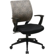 Office Star Screen Back Task Chair with T Arm, Leopard