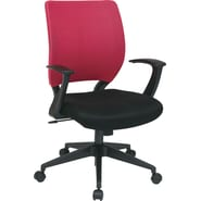 Office Star Screen Back Task Chair with in.Tin. Arm, Pink