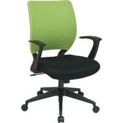 Office Star Screen Back Task Chair with T Arm, Green