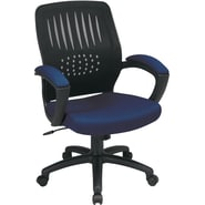 Office Star Screen Back Fabric Over Designer Contoured Shell Chairs with Padded Arms