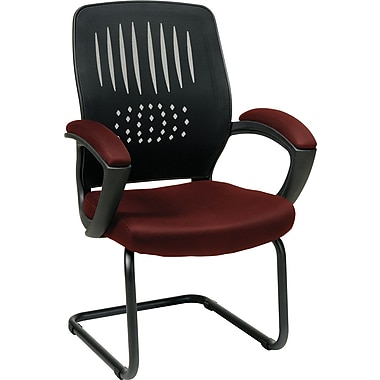 Office Star WorkSmart™ Fabric Guest Chair with Screen Back, Burgundy