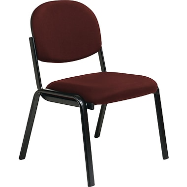 Office Star WorkSmart™ Fabric Armless Guest Chair, Burgundy