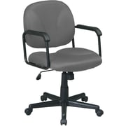 Office Star WorkSmart™ Polyester Mid Back Executive Chair with Loop Arm, Gray