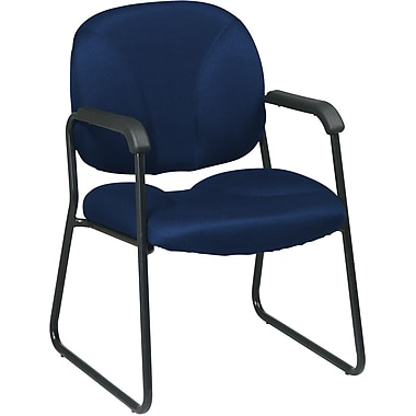 Office Star WorkSmart™ Fabric Guest Chair, Navy