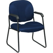 Office Star Worksmart Metal Executive Guest Chair, Navy (EX3302-225)