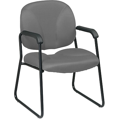 Office Star Worksmart Metal Executive Guest Chair, Gray (EX3302-226)