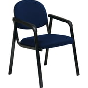 Office Star WorkSmart™ Fabric Guest Chair with Designer Plastic Shell Back, Navy