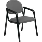 Office Star WorkSmart™ Fabric Guest Chair with Designer Plastic Shell Back, Gray