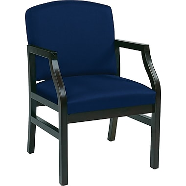 Office Star WorkSmart™ Fabric Modular Guest Chairs with Mahogany Finish