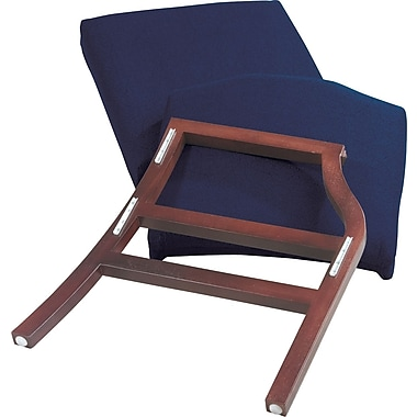 Office Star WorkSmart™ Fabric Mahogany Finish Modular Single Add-on Kits