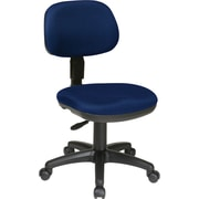 Office Star Fabric Computer and Desk Office Chair, Navy, Armless Arm (SC117-225)