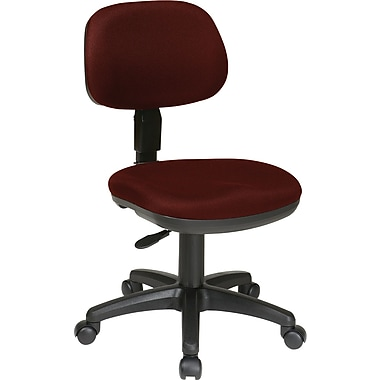 Office Star SC117-227 Work Smart Fabric Low-Back Armless Task Chair, Burgundy