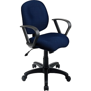 Office Star Fabric Computer and Desk Office Chair, Navy, Fixed Arm (SC59-225)