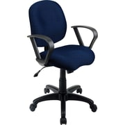 Office Star SC59-225 Work Smart Fabric Mid-Back Task Chair with Fixed Arms, Navy