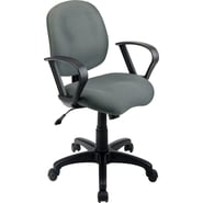 Office Star WorkSmart™ Fabric Task Chair with Contemporary Loop Arm, Gray